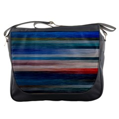 Background Horizontal Lines Messenger Bags