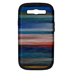 Background Horizontal Lines Samsung Galaxy S Iii Hardshell Case (pc+silicone)