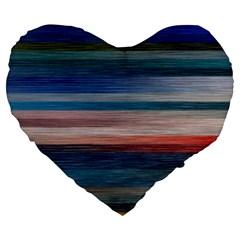 Background Horizontal Lines Large 19  Premium Heart Shape Cushions
