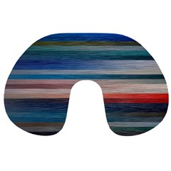 Background Horizontal Lines Travel Neck Pillows