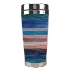 Background Horizontal Lines Stainless Steel Travel Tumblers