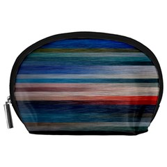 Background Horizontal Lines Accessory Pouches (large)