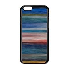Background Horizontal Lines Apple Iphone 6/6s Black Enamel Case