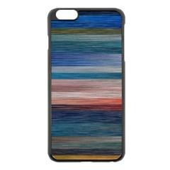 Background Horizontal Lines Apple Iphone 6 Plus/6s Plus Black Enamel Case