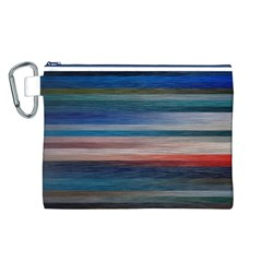 Background Horizontal Lines Canvas Cosmetic Bag (l)