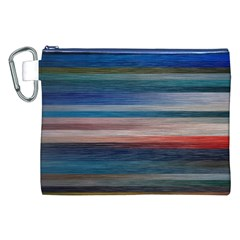 Background Horizontal Lines Canvas Cosmetic Bag (xxl)