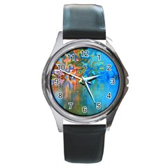 Background Texture Structure Round Metal Watch