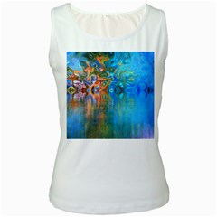 Background Texture Structure Women s White Tank Top