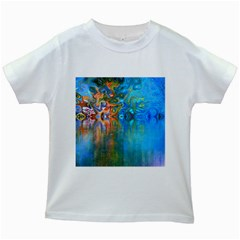 Background Texture Structure Kids White T-Shirts