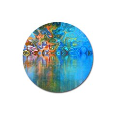 Background Texture Structure Magnet 3  (Round)