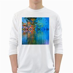 Background Texture Structure White Long Sleeve T-Shirts