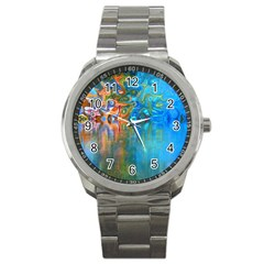 Background Texture Structure Sport Metal Watch