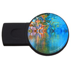 Background Texture Structure Usb Flash Drive Round (4 Gb)