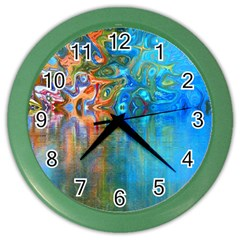 Background Texture Structure Color Wall Clocks