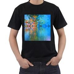Background Texture Structure Men s T Shirt (black)