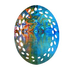 Background Texture Structure Oval Filigree Ornament (Two Sides)