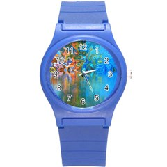 Background Texture Structure Round Plastic Sport Watch (S)