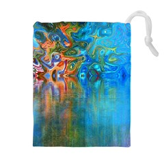 Background Texture Structure Drawstring Pouches (extra Large)