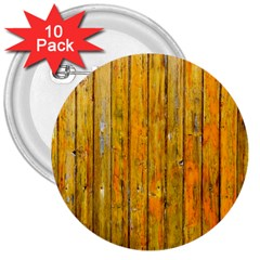 Background Wood Lath Board Fence 3  Buttons (10 Pack)
