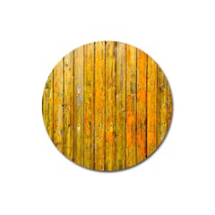 Background Wood Lath Board Fence Magnet 3  (round)