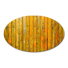 Background Wood Lath Board Fence Oval Magnet