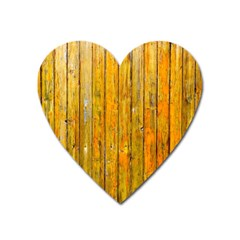 Background Wood Lath Board Fence Heart Magnet
