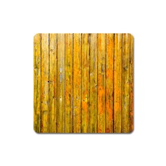 Background Wood Lath Board Fence Square Magnet