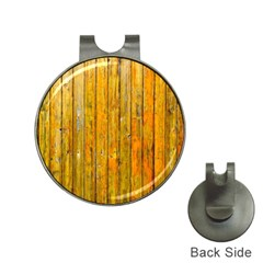 Background Wood Lath Board Fence Hat Clips With Golf Markers
