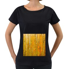 Background Wood Lath Board Fence Women s Loose Fit T Shirt (black)