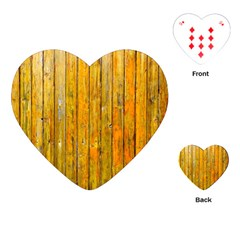 Background Wood Lath Board Fence Playing Cards (heart)