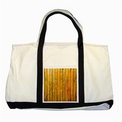 Background Wood Lath Board Fence Two Tone Tote Bag