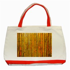 Background Wood Lath Board Fence Classic Tote Bag (red)