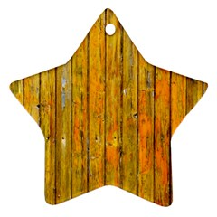 Background Wood Lath Board Fence Star Ornament (two Sides)