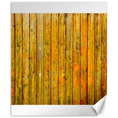 Background Wood Lath Board Fence Canvas 8  X 10