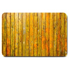 Background Wood Lath Board Fence Large Doormat