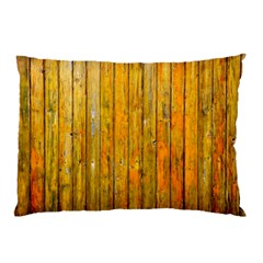 Background Wood Lath Board Fence Pillow Case