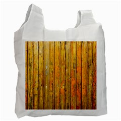 Background Wood Lath Board Fence Recycle Bag (two Side)