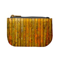 Background Wood Lath Board Fence Mini Coin Purses