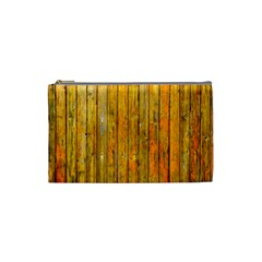 Background Wood Lath Board Fence Cosmetic Bag (small)
