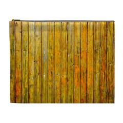Background Wood Lath Board Fence Cosmetic Bag (xl)