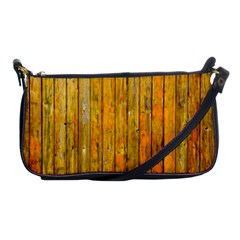 Background Wood Lath Board Fence Shoulder Clutch Bags