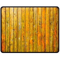 Background Wood Lath Board Fence Fleece Blanket (medium)