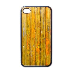 Background Wood Lath Board Fence Apple Iphone 4 Case (black)