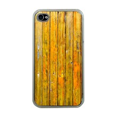 Background Wood Lath Board Fence Apple Iphone 4 Case (clear)