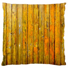 Background Wood Lath Board Fence Large Cushion Case (one Side)