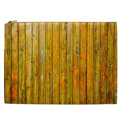 Background Wood Lath Board Fence Cosmetic Bag (xxl)