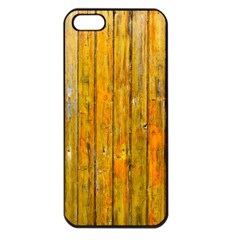 Background Wood Lath Board Fence Apple Iphone 5 Seamless Case (black)