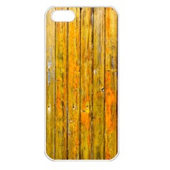 Background Wood Lath Board Fence Apple Iphone 5 Seamless Case (white)