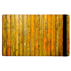 Background Wood Lath Board Fence Apple Ipad 2 Flip Case
