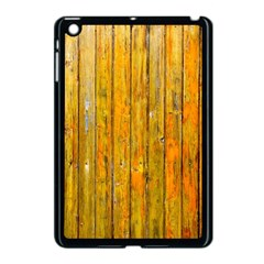 Background Wood Lath Board Fence Apple Ipad Mini Case (black)
